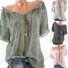 Women Summer Lace Patchwork T-shirts Lacing Up Short Sleeve T-hirts Blouse