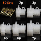 50X Automotive Electrical 2 3 4 6 9 Pin Connector For Harley-Davidson Motorcycle
