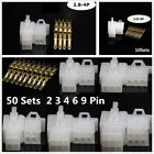 50X Automotive Electrical 2 3 4 6 9 Pin Connector For Motor Motorcycle 2000-2001