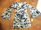 KERRY CASSIL Dress  Black & White Tie-Dye Cotton  Size Small   NWT