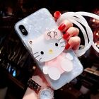 Cute Hello Kitty Mirror Bling Shell Case Cover for iPhone 8 6S 7 Plus X