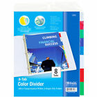 Bazic 3-ring Binder Dividers W 8-insertable Color Tabs File Folder Inserts New