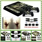 For Palystation 4 PS4 Slim Console&Controller of Walking Dead Skin Sticker Decal