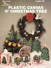 NEW O CHRISTMAS TREE BASKETS TISSUE COVER  MORE PLASTIC CANVAS PATTERN LEAFLET