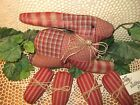 Prim quilted fabric handmade rabbit eggs bowl fillers Country Easter Home Decor