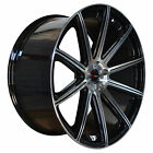 4 GWG Wheels 22 inch Black MOD Rims fits FORD EDGE 2015 2018