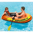 2man Small Inflatable Boat Paddle Raft Fun Lake Pool Toys for Boys Teens Kids