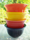Fiesta bouillon bowls x 4. Multi colors. Holds 6-3/4oz..