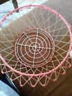 Antique Wire Collapsible Egg Basket Folding Bowl