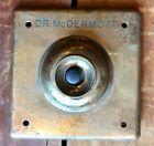 's Vintage Brass Doorbell - Push Button And Engraved Frame