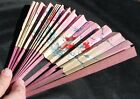Antique Hand-painted Oriental-style Paper Fan