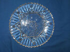 Vintage Indiana Glass Clear Round Scalloped Edge Center Fruit Design 11