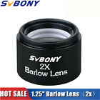 125 2X Barlow Lens M28606 pitch Thread for 125Inch Telescopes Eyepieces US