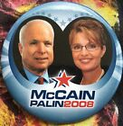 McCAIN PALIN 2008 campaign button pin 3 inches