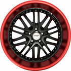 4 GWG Wheels 18 inch Black Red Lip AMAYA Rims fits SUBARU B9 TRIBECA 2006 2007