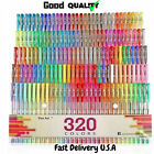 Gel Pens Pen Set 320 Colors For Adult Glitter Coloring Books Writing Drawing Art