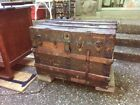's conestoga steamer wagon trunk chest Metal banded rare