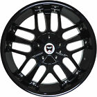 4 GWG Wheels 18 inch Black SAVANTI Rims fit 5x1143 ET40 HYUNDAI XG350 2002 2005