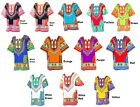 Women Traditional African Print Dashiki Dress 3/4 Sleeve Party Shirt Plus Size