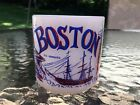 Boston Massachusetts Federal Milk Glass Mug Coffee Cup USA Vintage RARE F Shield