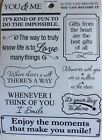 Inspirational You  Me Smile Gifts from the Heart Phrase Scrapbook Stickers
