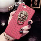 Slim 3D Lion Head Ring Holder Hard PC Back Cover Case For iPhone 7 Plus/8 Plus