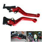 Red CNC Motorcycle Drum Disc Hydraulic Line GY6 Brake Clutch Lever Grip Solid