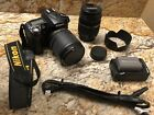 Nikon D90 123MP Digital SLR with 2 Lenses + More