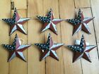 (Set of 6) PATRIOTIC AMERICANA BARN STARS 3 3/8