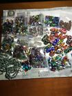 Assorted Large Lampwork Beads Spacers Glass Hearts Bead Strands