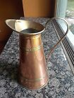Vintage ODTC Portugal Copper/Brass Banded Pitcher 11