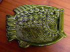 GREEN FISH DISH MID-CENTURY MODERN EAMES ERA 50s 60s Inarco Japan Pottery