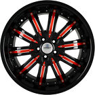 4 Wheels 20 inch Black Red NARSIS Rims fits FORD FUSION 2017 2018