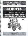 Kubota L3940-3 L4240-3 L4740-3 Tractor Illustrated Parts Manual 97898-24720
