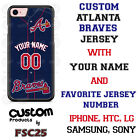 Atlanta Braves BLUE Design Baseball Phone Case Customized for Samsung s9 s8 etc.