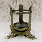 Vtg Brass Candle Holder A Gross Candle Co Ornate Dragon Baltimore 30s 40s