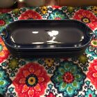 Fiesta Retired Relish Tray Corn on the Cob Cobalt