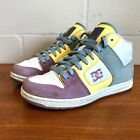 DC Womens 65 Manteca 2 Mid Model Skate Shoe White Grey Yellow Lavender Sneaker
