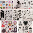 Happy Birds Transparent Silicone Clear Stamp DIY Scrapbook Embossing Card Owl