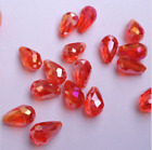 20pcs red ab 8x12mm Teardrop Glass Faceted Loose Crystal Spacer Beads