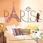 PVC Removable Pink Paris Eiffel Tower Wall Sticker Home Decor For Room Bedroom