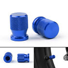 Tire Valve Wheels Stem Pressure Dust Caps For Honda KTM Kasasaki Yamaha Blue USA