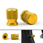 Tire Valve Wheels Stem Pressure Dust Caps For Honda KTM Kasasaki Yamaha Gold USA