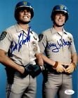 "Eric Estrada ""Ponch""  Larry Wilcox ""Jon"" Chips Autographed 8x10 Photo JSA 3"