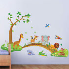 Jungle Animal Tree Removable Wall Decals Sticker Kids Nursery Baby Room Decor US