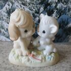 Precious Moments Figure 2004 Just a little Paws Warm 120109 Welcome Puppy Kitty