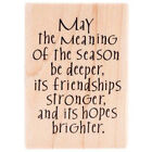 New Stampabilities MEANING OF THE SEASON Wood Rubber Stamp Christmas Holiday