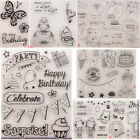 Happy Birthday Transparent Silicone Clear Stamps DIY Scrapbook Embossing Card