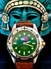 Tommy Hilfiger 300m Diver Men's Watch Night Glo Markers Emerald Green Dial Runs