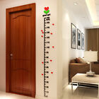 Hot Kid Room Deco Height Ruler Measure Chart DIY 3D Acrylic Crystal Wall Sticker